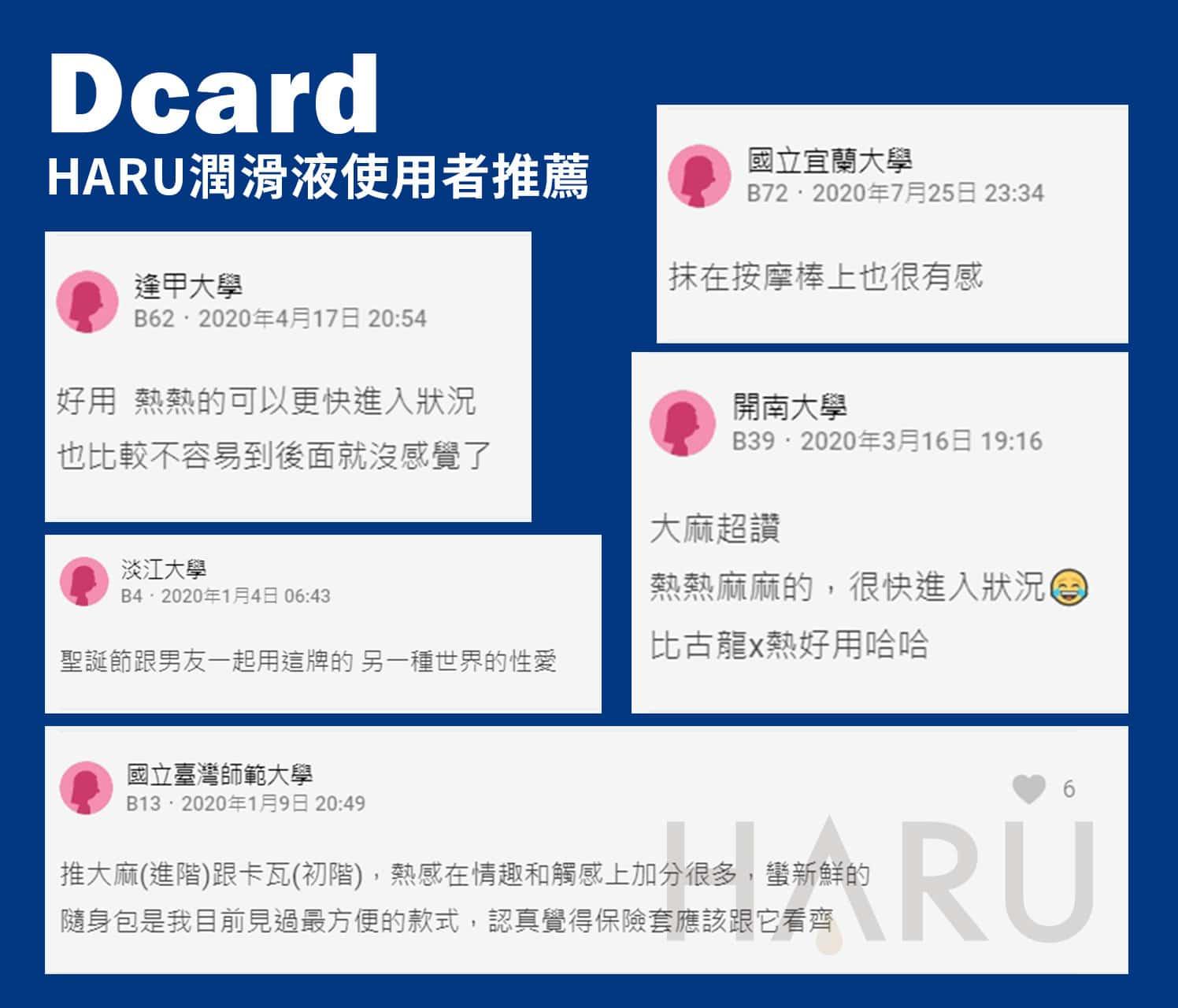 DCARD推薦的HARU水性潤滑液